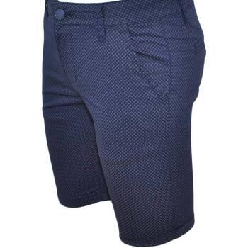 Abbigliamento Uomo Shorts / Bermuda Malu Shoes Pantaloncini uomo shorts man in cotone uomo man blu chiusura zi BLU