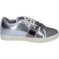 Scarpe Bambina Sneakers basse Enrico Coveri sneakers pelle sintetica tessuto argento