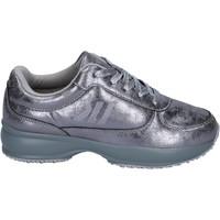 Scarpe Bambina Sneakers basse Lumberjack sneakers pelle sintetica argento