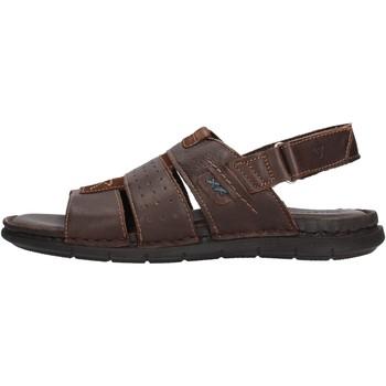 Scarpe Uomo Sandali Valleverde 20831 sandali marroni in pelle da uomo MARRONE