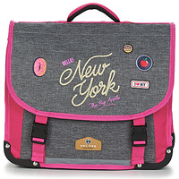 Borse Bambina Cartelle Rentrée des classes POL FOX NEW YORK CARTABLE 38 CM Grigio / Rosa