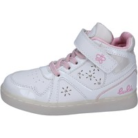 Scarpe Bambina Sneakers alte Lulu sneakers pelle sintetica vernice bianco