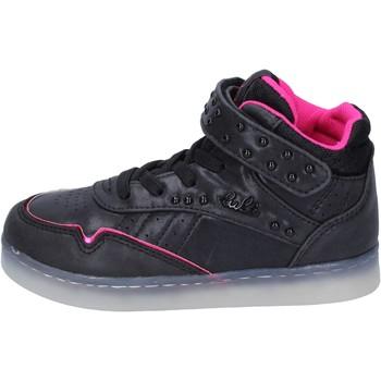 Scarpe Bambina Sneakers alte Lulu sneakers pelle sintetica tessuto nero