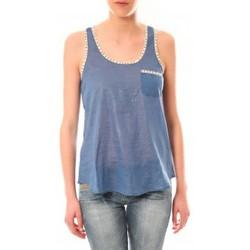 Abbigliamento Donna Top / T-shirt senza maniche Lara Ethnics Débardeur Ambre Bleu Blu