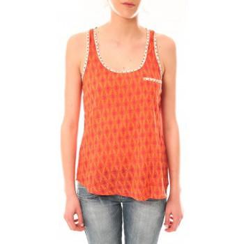 Abbigliamento Donna Top / T-shirt senza maniche Lara Ethnics Débardeur Ambre Orange Arancio