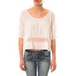 Abbigliamento Donna T-shirt maniche corte Lara Ethnics Top Wendy Blanc Bianco