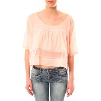 Abbigliamento Donna T-shirt maniche corte Lara Ethnics Top Wendy Violet Rosa