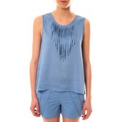 Abbigliamento Donna Top / T-shirt senza maniche Lara Ethnics Débardeur Maelys Bleu Blu