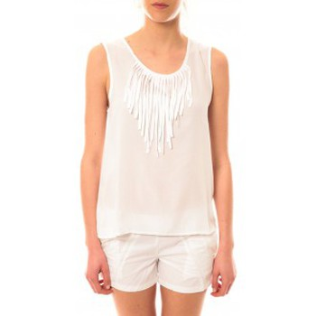 Abbigliamento Donna Top / T-shirt senza maniche Lara Ethnics Débardeur Maelys Blanc Bianco