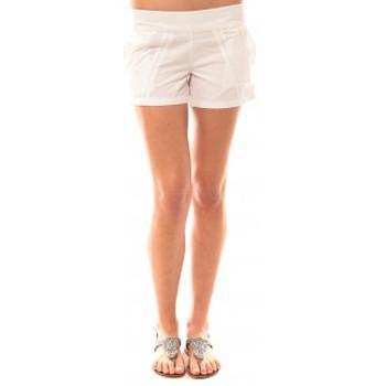 Abbigliamento Donna Shorts / Bermuda Lara Ethnics Short Lola Blanc Bianco