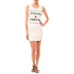 Abbigliamento Donna Abiti corti Vera & Lucy Robe Young MC1577 Blanc Bianco