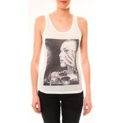Abbigliamento Donna Top / T-shirt senza maniche By La Vitrine Débardeur D2709 Blanc Bianco