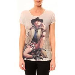 Abbigliamento Donna T-shirt maniche corte By La Vitrine Top Cowboy 1103 Beige Beige