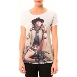 Abbigliamento Donna T-shirt maniche corte By La Vitrine Top Cowboy 1103 Blanc Bianco