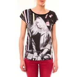 Abbigliamento Donna T-shirt maniche corte By La Vitrine Top Clara 1104 Noir Nero