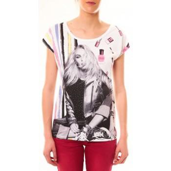 Abbigliamento Donna T-shirt maniche corte By La Vitrine Top Clara 1104 Blanc Bianco