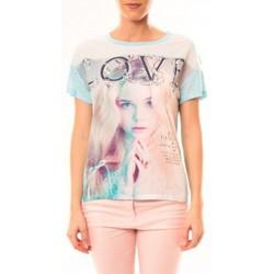 Abbigliamento Donna T-shirt maniche corte By La Vitrine Top Love B002 Vert Verde