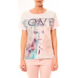 Abbigliamento Donna T-shirt maniche corte By La Vitrine Top Love B002 Rose Rosa