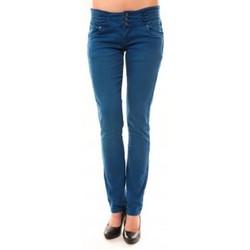 Abbigliamento Donna Jeans dritti Dress Code Jeans Rremixx RX320 Bleu Blu
