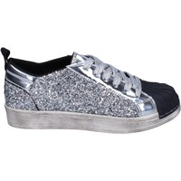 Scarpe Bambina Sneakers basse Holalà sneakers glitter vernice argento