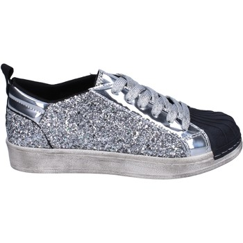 Scarpe Bambina Sneakers basse Holalà BR384 Argento