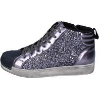 Scarpe Bambina Sneakers alte Holalà sneakers glitter vernice grigio