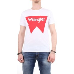 Abbigliamento Uomo T-shirt maniche corte Wrangler w7c24fq Bianco