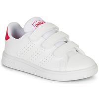 Scarpe Bambina Sneakers basse adidas Originals ADVANTAGE C Bianco