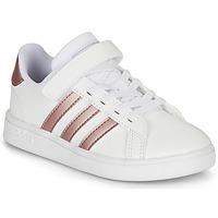 Scarpe Bambina Sneakers basse adidas Originals GRAND COURT C Bianco