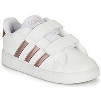 Scarpe Bambina Sneakers basse adidas Originals GRAND COURT I Bianco