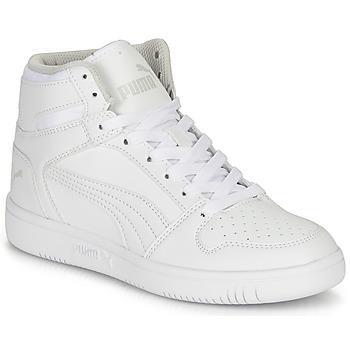 Scarpe Unisex bambino Sneakers alte Puma REBOUND LAYUP B Bianco
