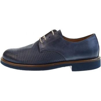 Scarpe Uomo Derby Antica Cuoieria scarpe uomo classiche 20795-S-V96 ICARO STAMPATO BLU Pelle