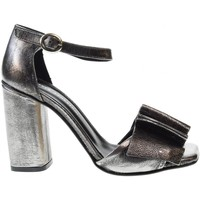 Scarpe Donna Sandali Poesie Veneziane scarpe donna sandali con tacco JSA02  PIOMBO Pelle