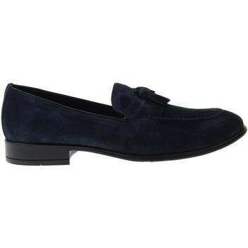 Scarpe Uomo Mocassini Antica Cuoieria scarpe uomo mocassini 20802-A-V89 AMALFI BLU Pelle