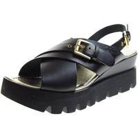 Scarpe Donna Sandali Antica Cuoieria scarpe donna sandali 20876-V-AD8 NERO Pelle