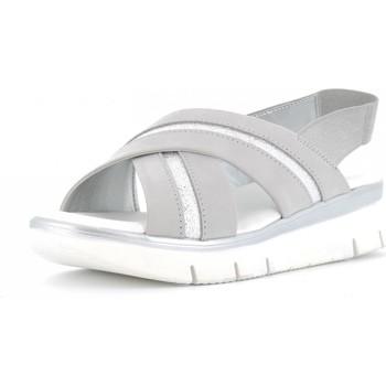 Scarpe Donna Sandali The Flexx scarpe donna sandali con zeppa D2016 22 HOWARD GRIGIO ARGENTO Pelle