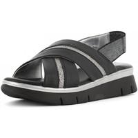 Scarpe Donna Sandali The Flexx scarpe donna sandali con zeppa D2016 22 HOWARD BLACK/PEWTER Pelle