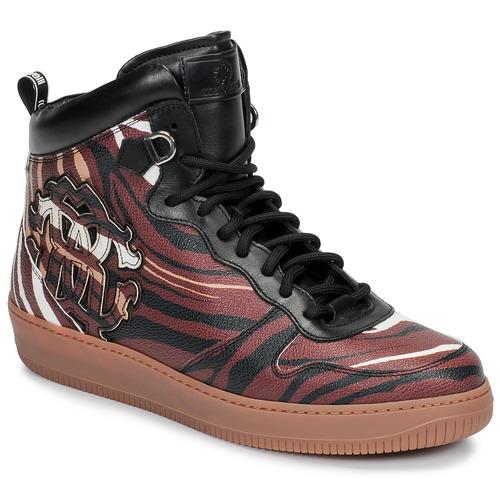 Scarpe Uomo Sneakers alte Roberto Cavalli 8343 Multicolore