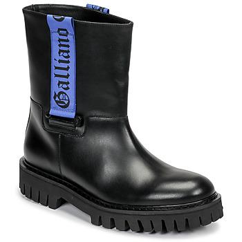Scarpe Uomo Stivaletti John Galliano 8560 Nero / Blu