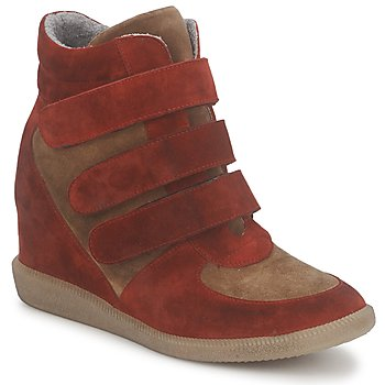 Scarpe Donna Sneakers alte Meline IMTEK BIS Marrone / Rosso