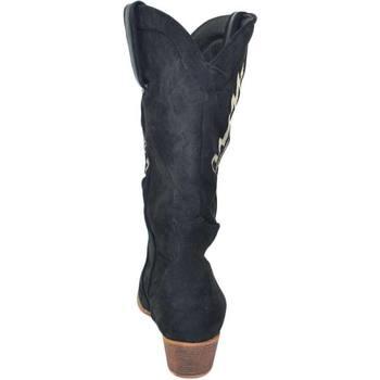 Scarpe Donna Stivali Malu Shoes Stivali donna camperos texani stile western effetto scamosciato NERO