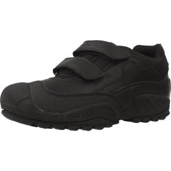 Scarpe Bambino Sneakers basse Geox J NEW SAVAGE BOY B A Nero