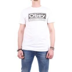 Abbigliamento Uomo T-shirt maniche corte Obey 166141748--RECORDS-&-CASSETTES Wht-bianco
