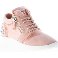 Scarpe Donna Sneakers basse Giuseppe Zanotti Design donna sneaker Singleg in camoscio e raso ROSA con zip rosa