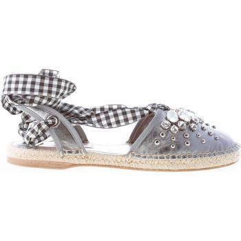 Scarpe Donna Espadrillas Miu Miu donna sandalo espadrillas in nappa ARGENTO con gioiello argento