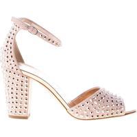 Scarpe Donna Sandali Giuseppe Zanotti Design donna sandalo in camoscio ROSA con cristalli. Tacco 8 cm rosa