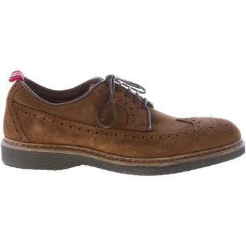 Scarpe Uomo Richelieu Green George uomo scarpa derby in camoscio MARRONE TABACCO suola micro marrone