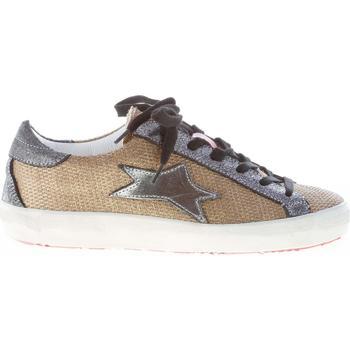 Scarpe Donna Sneakers basse Ishikawa donna sneaker in tessuto lucente ORO più laminato argento oro