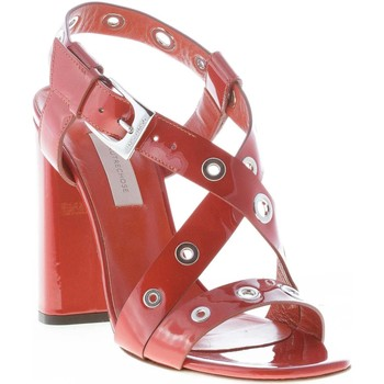 Scarpe Donna Sandali L'autre Chose donna sandalo in naplak RUGGINE con anelli. Tacco 11 RUGGINE