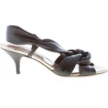 Scarpe Donna Sandali L'autre Chose donna sandalo in nappa NERO con nodo. Tacco 5,5 cm nero